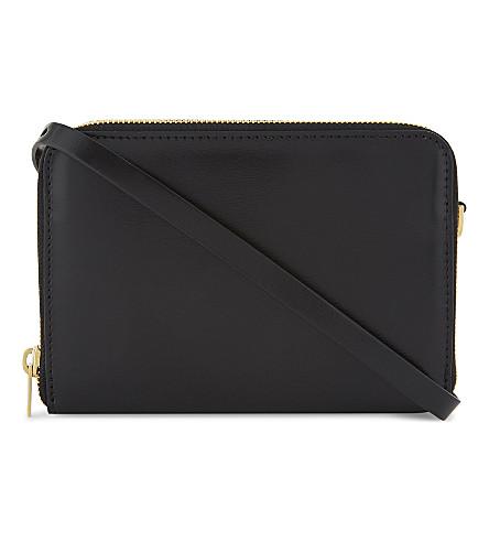 SOPHIE HULME Albert double zip cross-body bag (Black