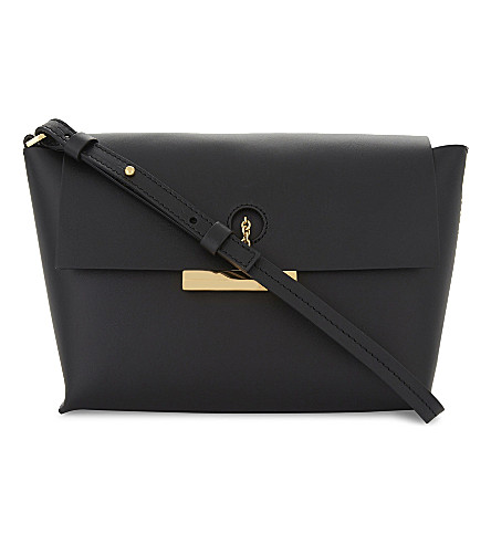 SOPHIE HULME The Pinch leather cross-body bag (Black