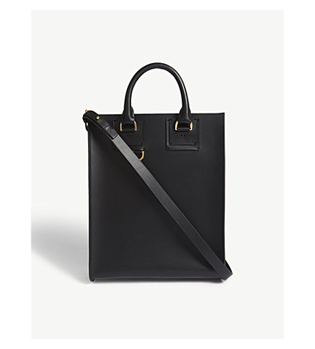 SOPHIE HULME Mini Albion leather tote bag (Black