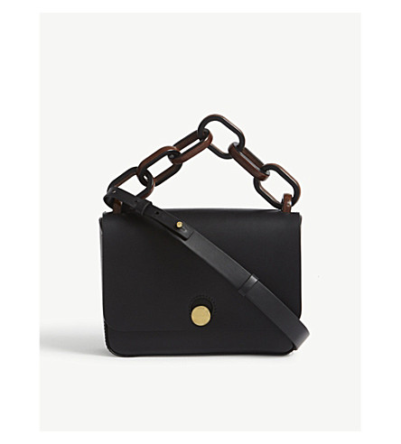 SOPHIE HULME Spring leather cross-body bag (Black