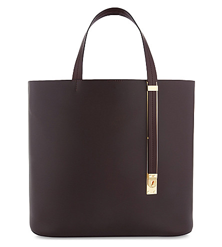 SOPHIE HULME East West Exchange leather tote bag (Oxblood