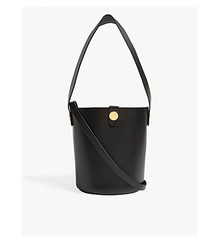 SOPHIE HULME Swing Shiny leather saddle bag (Black