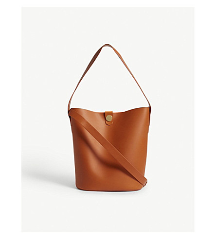 SOPHIE HULME Swing Shiny saddle bag (Burnt+orange