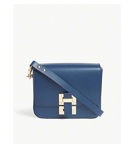 SOPHIE HULME The Quick small leather cross-body bag (Canard