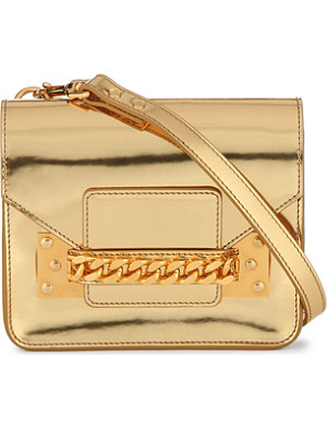 SOPHIE HULME Mini envelope patent-leather cross-body bag