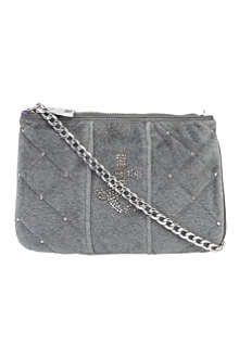 JUICY COUTURE Louisa velour shoulder bag