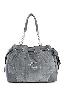 JUICY COUTURE Velour daydreamer shoulder bag