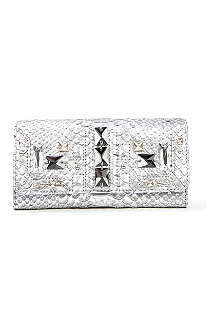 JUICY COUTURE Deco Leather Perry Continental Clutch