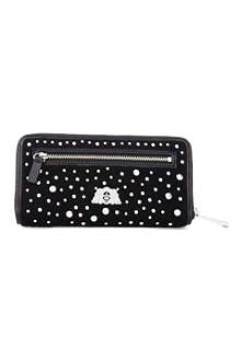 JUICY COUTURE Studded velour wallet