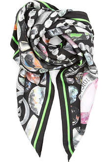 JUICY COUTURE Silk square digital scarf