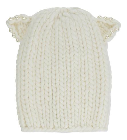 EUGENIA KIM Feliz wool beanie (Winter white