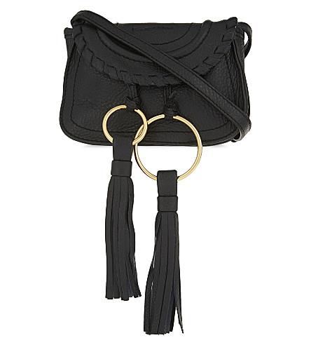 SEE BY CHLOE Mini leather shoulder bag (Black