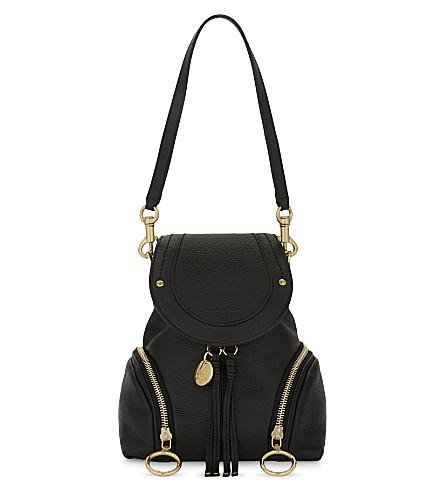 SEE BY CHLOE Leather backpack (Black