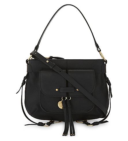 SEE BY CHLOE Leather shoulder bag (Black