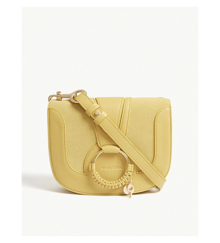 SEE BY CHLOE Hana leather and suede shoulder bag (Bright+gold