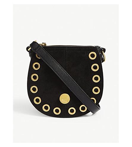 SEE BY CHLOE Leather suede shoulder bag (Nr001+black