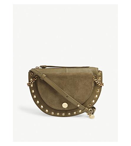 SEE BY CHLOE Kriss medium suede shoulder bag (Safari+khaki