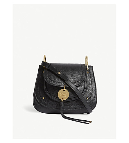 SEE BY CHLOE Grained leather saddle bag (Nr001+black