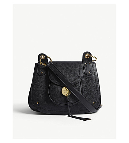 SEE BY CHLOE Grained leather cross-body bag (Black