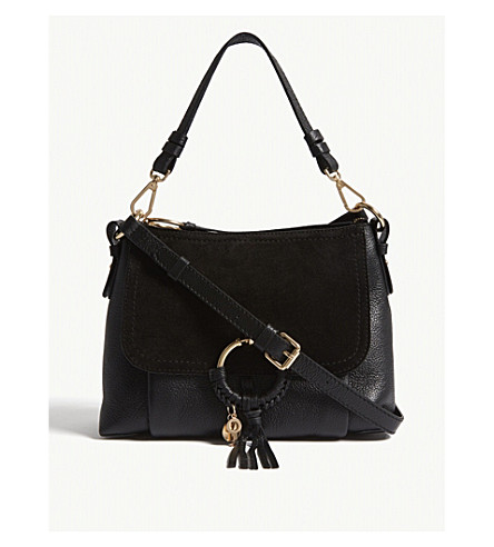 SEE BY CHLOE Grained leather shoulder bag (Nr001+black