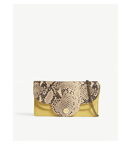 SEE BY CHLOE Polina snakeskin-embossed leather mini bag (Bright+gold