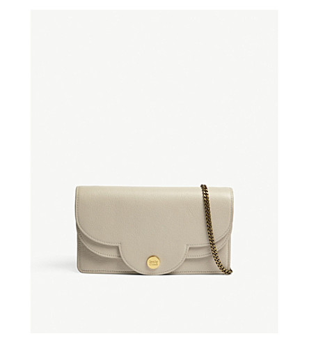 SEE BY CHLOE Polina leather shoulder bag (Cement+beige