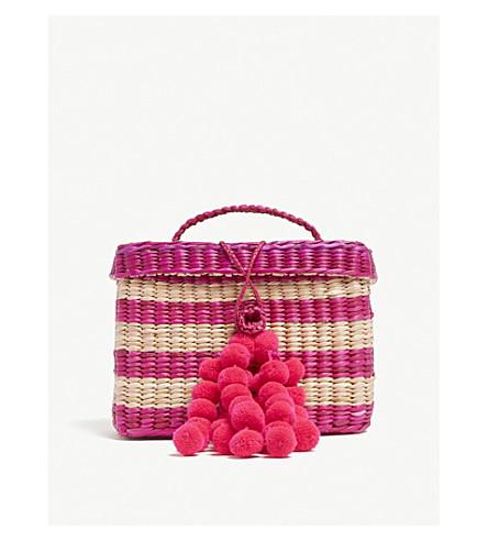 NANNACAY Amaranth baby striped straw bag