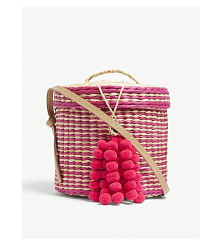 cross Pink NANNACAY bag striped bag striped straw body Ana bucket bucket body Ana NANNACAY straw cross gZZPq1xCw