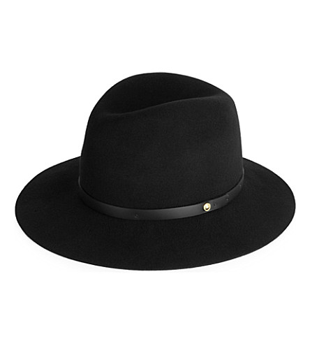 RAG & BONE Floppy brim fedora hat (Black