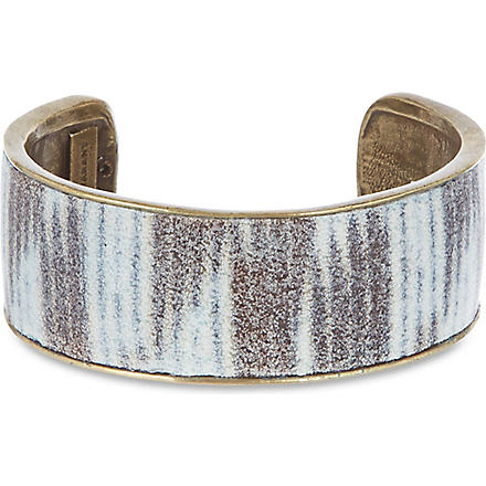 ISABEL MARANT Small printed cuff (Black/ecru
