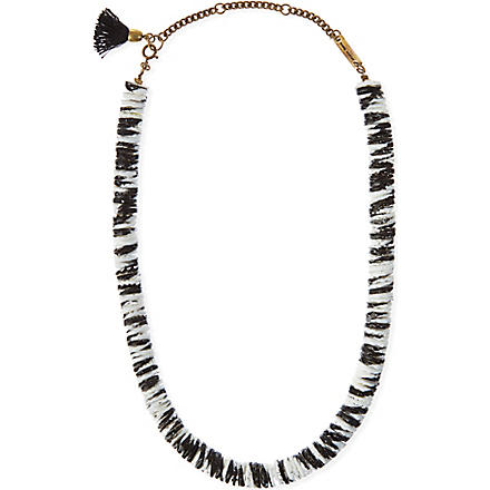 ISABEL MARANT Seashell necklace (Black