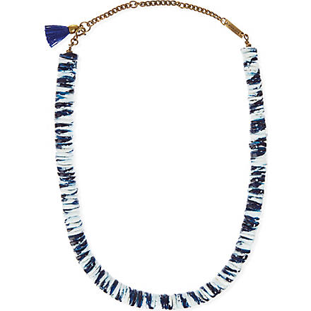 ISABEL MARANT Tie-dye seashell necklace (Navy