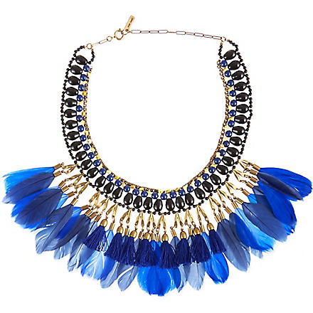 ISABEL MARANT Feathered necklace (Navy