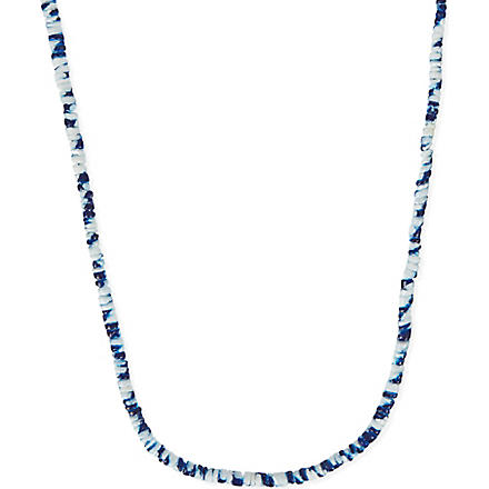 ISABEL MARANT Tie-dyed seashell necklace (Navy