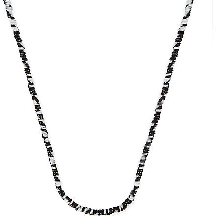 ISABEL MARANT Long tiedye necklace (Black