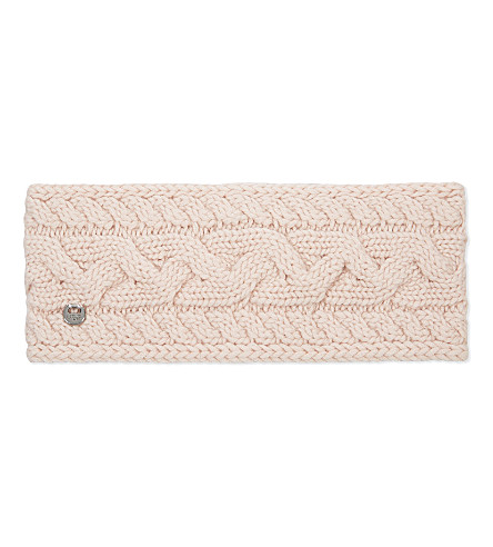 UGG Cable knit wool-blend headband (Freshwater pearl m