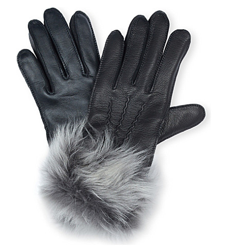 UGG Toscana smart leather gloves (Black
