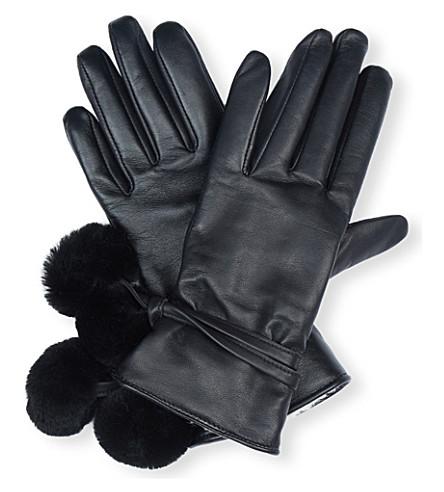 UGG Brita smart leather gloves (Black