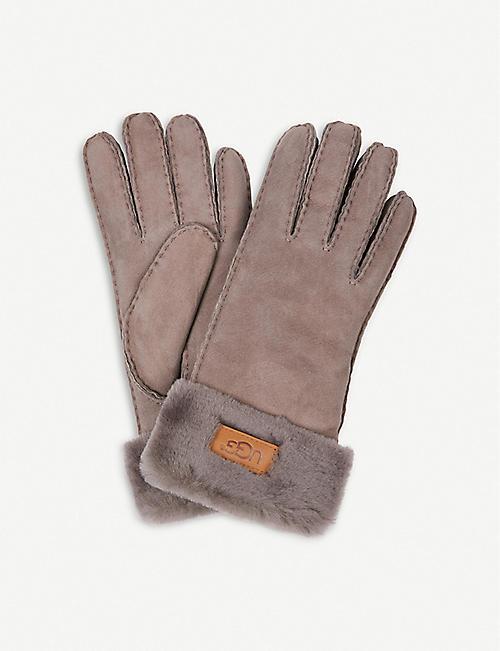 UGG Turned-cuff sheepskin gloves