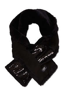 UGG Sequinned fur scarf