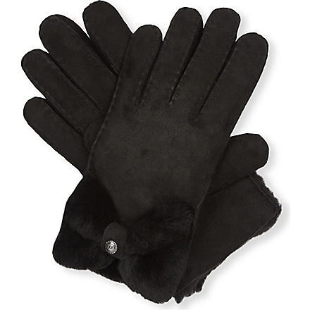 UGG Classic Bow Shorty gloves (Black