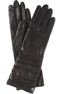 UGG Bianka ruched leather gloves