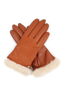 UGG Classic leather gloves