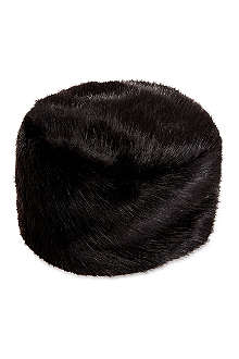 HELEN MOORE Pillbox faux-fur hat