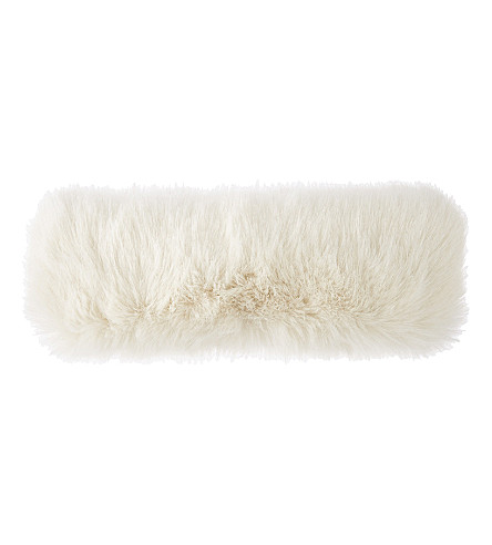 HELEN MOORE Faux-fur headband (Ermine