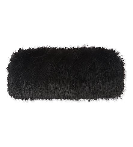 HELEN MOORE Faux-fur headband (Jet
