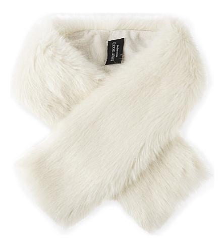 HELEN MOORE Faux-fur tippet scarf (Ermine