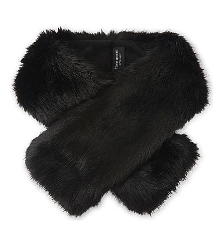 HELEN MOORE Faux-fur tippet scarf (Jet