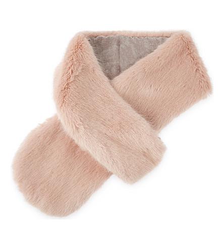 HELEN MOORE Faux-fur loop scarf (Dusky