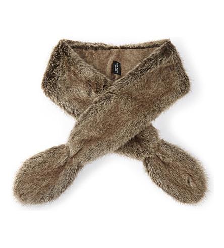 HELEN MOORE Vixen faux-fur stole (Truffle